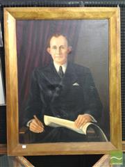 Sale 8412 - Lot 1012 - Framed Portrait, Oil on Canvas (121 x 95cm)
