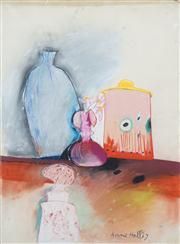 Sale 8410A - Lot 5028 - Anne Hall (1945 - ) - Untitled, 1967 (Still Life) 76.5 x 56cm (sheet size)
