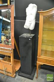 Sale 8440 - Lot 1010 - Stone Torso Statue on Plinth Base