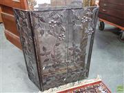 Sale 8593 - Lot 1074 - Modernist metal fire screen