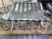 Sale 8629 - Lot 1015 - Rustic Barcelona Style Glass Top Side Table