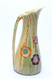 Sale 8739 - Lot 51 - Australian Design Carlton Ware Floral Jug ( H 28cm, Rd No 786475)