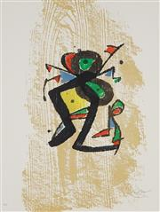 Sale 8821 - Lot 577 - Joan Miro (1893 - 1983) - Graveur (Suite) 60.5 x 44cm