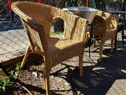 Sale 8822 - Lot 1498 - Pair of Wicker Chairs