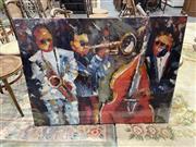 Sale 9004 - Lot 2081 - Artist Unknown Midnight Jazz III, acrylic on canvas, 90 x 120 cm