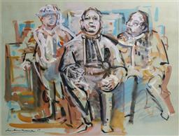 Sale 9137A - Lot 5011 - Ian Armstrong (1923 - 2005) - Bus Stop, 1969 55 x 72 cm (frame: 82 x 97 x 4 cm)