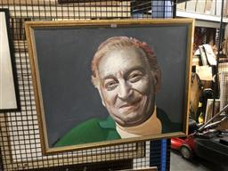 Sale 9152 - Lot 2056 - Sascha Portrait of a Man, acrylic on canvas, frame: 63 x 78 cm, signed lower right -