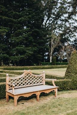 Sale 9200P - Lot 38 - A teak Conservatory Bench, Height of back 92cm x Width 180cm x Depth 66cm