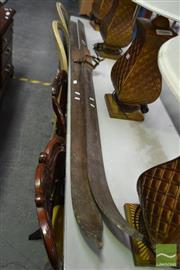 Sale 8515 - Lot 1029 - Pair of Vintage Skiis