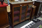 Sale 8542 - Lot 1083 - Glass Astragal Door Bookcase Top (A/F)