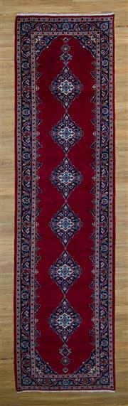 Sale 8566C - Lot 9 - Persian Kashan Runner 380cm x 104cm