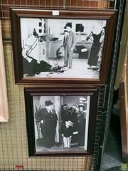 Sale 8582 - Lot 2156 - 2 Stan & Ollie Prints Framed