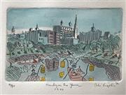 Sale 8607A - Lot 5031 - Peter Kingston (1943 - ) - Henley on the Yarra 1940, 1988 35 x 28cm
