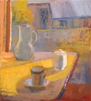 Sale 8624 - Lot 588 - Robin Lawrence - Morning Tea, 2008 50 x 45cm