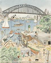 Sale 8732 - Lot 514 - Peter Kingston (1943 - ) - Olly at Lavender Bay 43.5 x 35cm