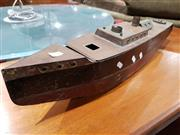 Sale 8765 - Lot 1032 - Steam Powered Tin Model Boat