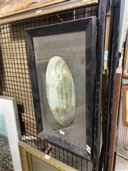 Sale 8891 - Lot 2055 - Herbert Clarke Simpson - Tweed River 1928 watercolour, 30 x 15cm; 50 x 30cm (frame) signed/dated