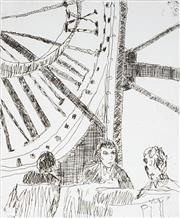 Sale 8976A - Lot 5037 - Judy Cassab (1920 - 2015) - Coffee at Musee DOrsay 1997 30.0 x 24.0 cm (frame: 57 x 47 x 3 cm)