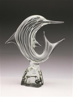 Sale 9131 - Lot 68 - CAM Murano signed art glass dolphin (H:31cm)
