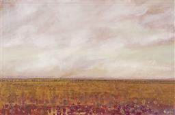 Sale 9195 - Lot 591 - MAL LECKIE (1952 - ) Desert Fire oil on canvas 100 x 150 cm (frame: 107 x 157 x 3 cm) signed lower right