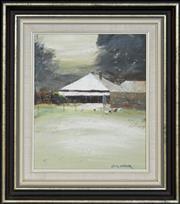Sale 8309A - Lot 4 - Colin Parker (1941 - ) - Farm at Hill End, NSW 29.5 X 24.5cm
