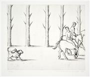 Sale 8347A - Lot 15 - Vivienne Shark LeWitt (1956 - ) - Untitled, 1988 (Horseback Riders) 25 x 30cm (99.5 x 70cm, sheet size)