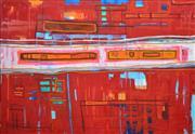 Sale 8382 - Lot 535 - Yvette Swan (1970 - ) - When the **** hits the fan 2003 137 x 198.5cm