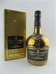 Sale 8439 - Lot 702 - 1x Courvoisier Cour Imperiale Grand Champagne Cognac - limited edition 750ml gold bottle in box
