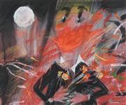 Sale 8642A - Lot 5038 - Geoffrey Proud (1946 - ) - Tangerine Smile 60 x 73cm (frame: 91 x 103cm)