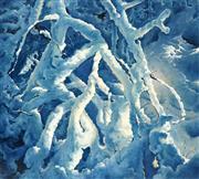 Sale 8510 - Lot 584 - Kerry Martin (1947 - ) - Snow Poem 122.5 x 137cm