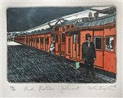 Sale 8607A - Lot 5032 - Peter Kingston (1943 - ) - Red Rattler - Jolimont 1988 38 x 28.5cm