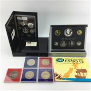 Sale 8618 - Lot 63 - Reserve Bank of New Zealand Proof Sets 1991-1992, with related New Zealand Coins