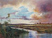 Sale 8738 - Lot 527 - Herman Pekel (1956 - ) - Storm Clouds Over Valley 90.5 x 120.5cm