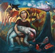 Sale 8755 - Lot 543 - Kay Singleton Keller (1940 - 2014) - Cycles: The Riddle 91 x 91cm