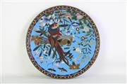 Sale 8935 - Lot 96 - Cloisonné Bird Themed Charger (Dia: 30.5cm)