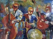 Sale 9004 - Lot 2080 - Artist Unknown Midnight Jazz II, acrylic on canvas, 90 x 120 cm