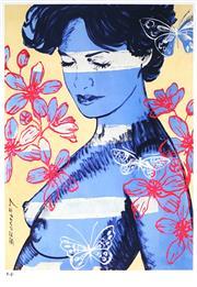 Sale 9047A - Lot 5036 - David Bromley (1960 - ) - Charlotte 29 x 21 cm (frame: 44 x 34 x 2 cm)
