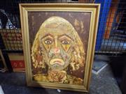 Sale 8417T - Lot 2090 - Artist Unknown, Clown, Oil, 44x34cm