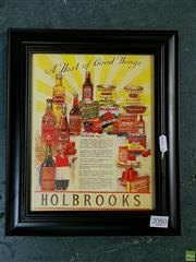 Sale 8582 - Lot 2080 - Holbrooks Print