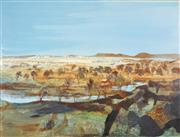Sale 8755 - Lot 556 - Ray Crooke (1922 - 2015) - Kimberley Landscape 75.5 x 101cm
