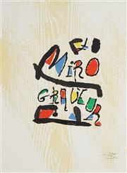 Sale 8821 - Lot 578 - Joan Miro (1893 – 1983) - Graveur (Suite) 60.5 x 44cm