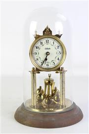 Sale 8913C - Lot 38 - A Shatz German Glass Dome Clock (H 31cm)