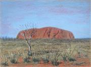 Sale 8976A - Lot 5045 - Helen James-McEwen (1920 - ) - Ayers Rock 36.0 x 48.5cm (frame: 54 x 63 x 2 cm)