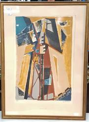 Sale 9058 - Lot 2020 - Geza Szobel (1905 - 1963) - La barque du Nocher 56 x 38 cm, frame: 68 x 50 cm