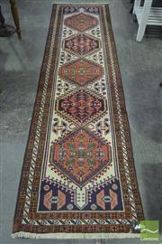 Sale 8284 - Lot 1067 - Hand Knotted Woolen Runner (80 x 300cm)