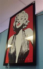 Sale 8320 - Lot 802 - 1970s Very large framed print of Marilyn Monroe