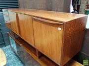 Sale 8528 - Lot 1021 - McIntosh Teak and Rosewood Sideboard