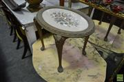 Sale 8515 - Lot 1026 - Tapestry Top Footstool