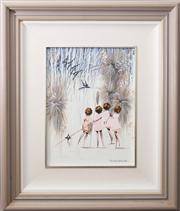 Sale 8575H - Lot 34 - Richard Boguz - Look Out Frame size H: 50 x W: 44cm