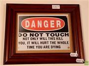 Sale 8582 - Lot 2377 - Electric Danger Sign